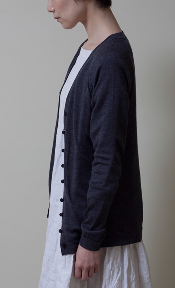 cardigan100% cashmere / white, gray