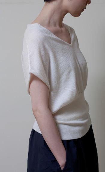 dolman100% cashmere / white, black