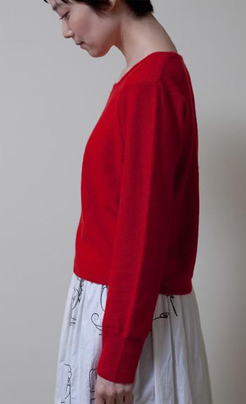 crew neck100% cashmere / white, black, red