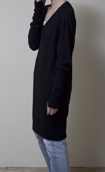 one piece100% cashmere / black, gray