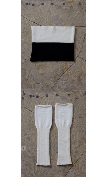 tunnel100% cashmereblack, red, beige, whitewhite+black, red+black,beige+red, beige+black / arm warmer100% cashmereblack, red, beige, white, gray
