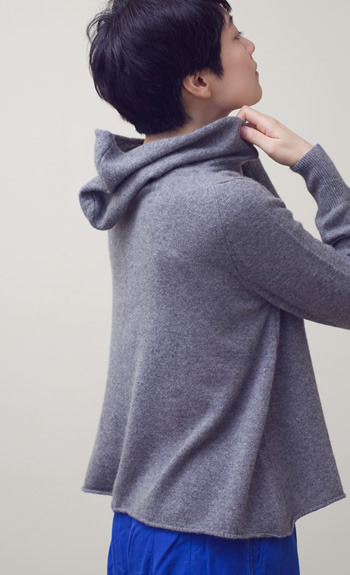 hood pulloverCashmere / gray, white, beige