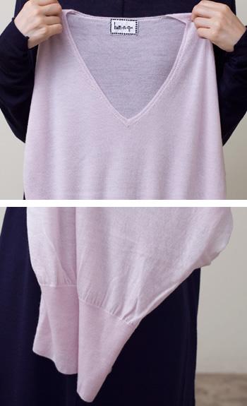 dolmanCashmere / black, white, gray, pink