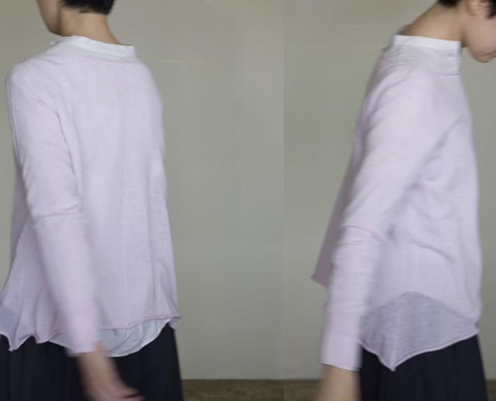 boat neck pulloverCashmere / black, white, pink