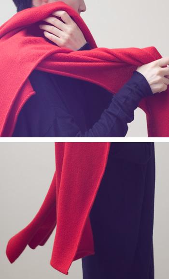 stoleCashmere / black, white, red, beige