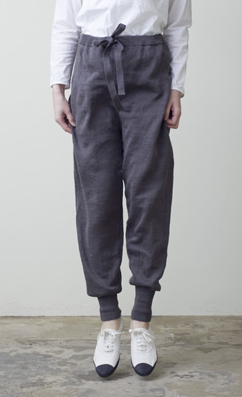 tapered pantsLinen / steel, natural