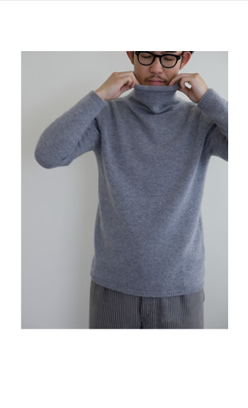 men's turtle neck / Cashmere / color by order / 68,000 yen