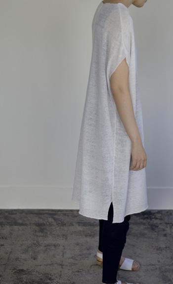 dolman sleeve o,p / Linen / black, steel, off / ¥41,000 +tax