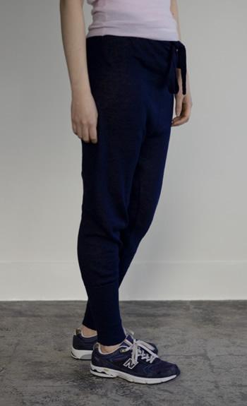 knit pants / Linen / black, steel, ultramarine / ¥38,000 +tax