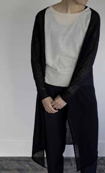 coat / Linen / black, off, darkgreen, cleam / ¥47,000 +tax