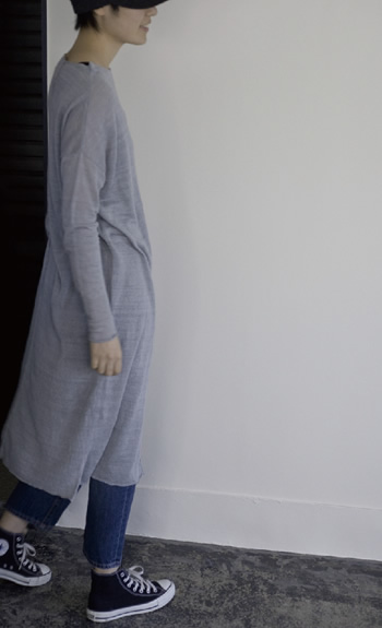 boat neck one piece / Linen / gray, royalblue, ivy / ¥45,000 +tax