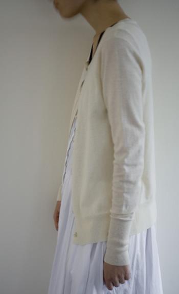 cardigan / Cotton60%, Cashmere40% / cleam, black, navy / ¥26,000 +tax
