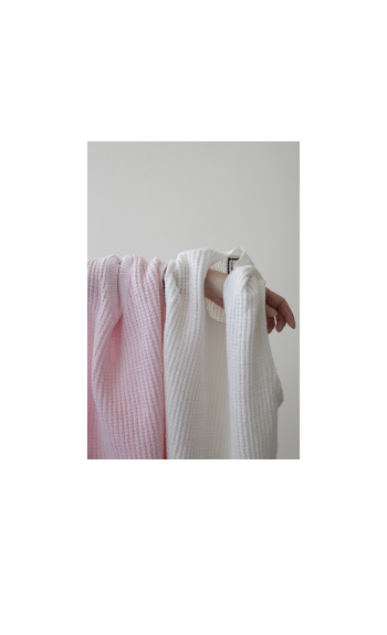 waffle best / Cotton /  white, navy, pink, gray / ¥25,000 +tax