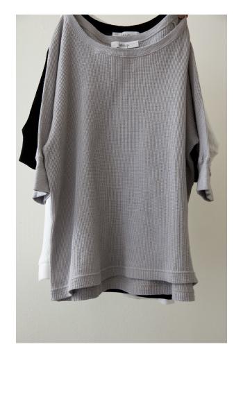 thermel cut sew / Cotton / white_M/L, gray_M/L / ¥11,000 +tax