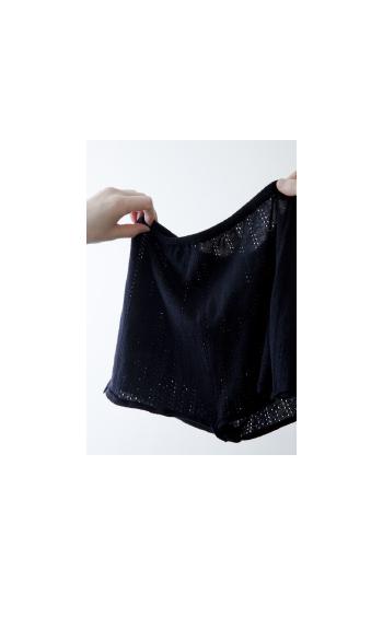 knit drawers / Cotton / white, black, pink / ¥12,000 +tax
