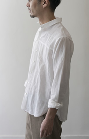 men's shirt Cotton/Ramie/white/32,000yen