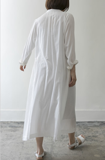 shirt dress Cotton/red,white/52,000yen