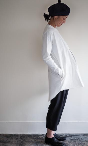 beret / tail cardigan