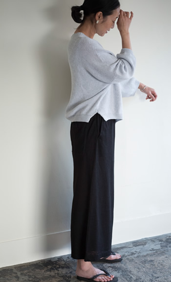 crew neck knit / knit pantalon