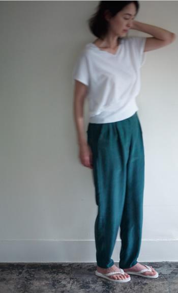 dolman vest / double length pants