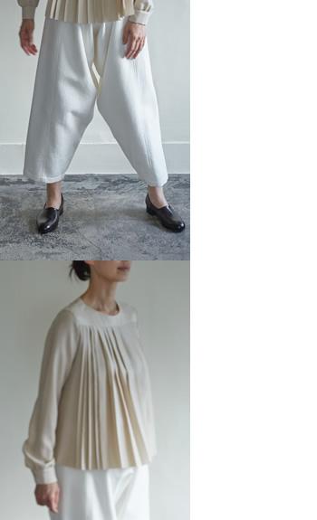 judo pants / pleated blouse